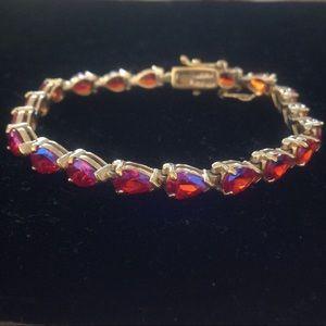 UTC Fuschia Pink Sterling Iridescent Tone Bracelet